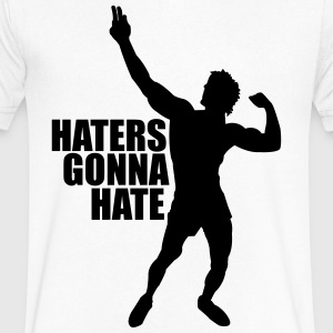 V-Neck T-Shirt Zyzz Haters Gonna Hate - Men's V-Neck T-Shirt by Canvas