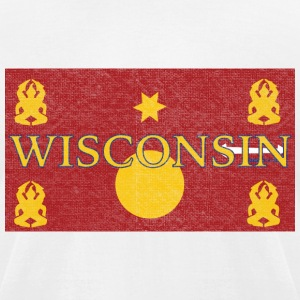 Wisconsin Hmong Flag T-Shirts - Men's T-Shirt by American Apparel