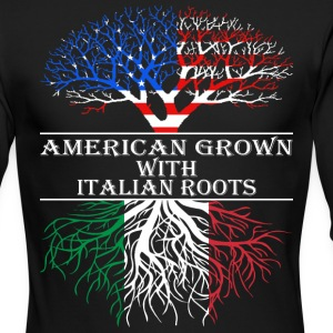 American Grown With Italian Roots - Men's Long Sleeve T-Shirt by Next Level