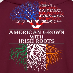 American Grown With Irish Roots - Men's Hoodie
