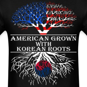 American Grown With Korean Roots - Men's T-Shirt