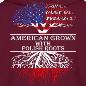 American Grown With Polish Roots - Men's Hoodie