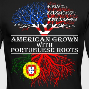 American Grown With Portuguese Roots - Men's Long Sleeve T-Shirt by Next Level