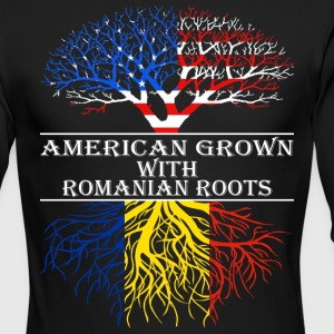 American Grown With Romanian Roots - Men's Long Sleeve T-Shirt by Next Level