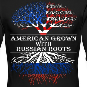 American Grown With Russian Roots - Men's Long Sleeve T-Shirt by Next Level