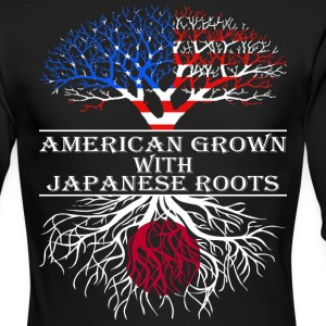 American Grown With Japanese Roots - Men's Long Sleeve T-Shirt by Next Level
