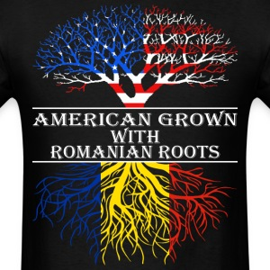 American Grown With Romanian Roots - Men's T-Shirt