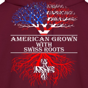 American Grown With Swiss Roots - Men's Hoodie