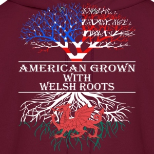 American Grown With Welsh Roots - Men's Hoodie