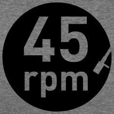 45rpm record player DJ club music sound DJane Long Sleeve Shirts