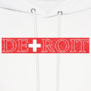 Detroit Switzerland Swiss Flag Hoodies - Men's Hoodie