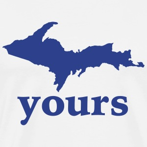 Up Your Vector Funny Upper Peninsula  T-Shirts - Men's Premium T-Shirt