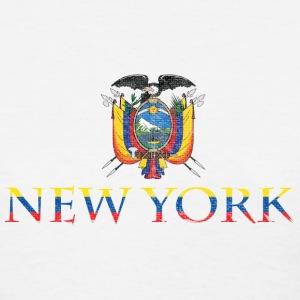 New York Ecuador Pride Flag Women's T-Shirts - Women's T-Shirt