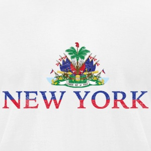 New York Haiti Flag Haitian Pride T-Shirts - Men's T-Shirt by American Apparel