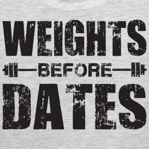 Weights Before Dates Tank Tops - Men's Premium Tank