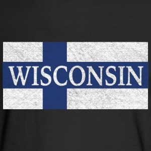 Wisconsin Finland Finnish Flag Long Sleeve Shirts - Men's Long Sleeve T-Shirt