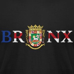 Bronx Puerto Rico Pride New York Flag T-Shirts - Men's T-Shirt by American Apparel