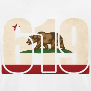 619 California Area Code Bear Flag T-Shirts - Men's T-Shirt by American Apparel
