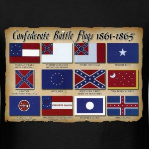 Confederate Battle Flags Shirt - Men's T-Shirt