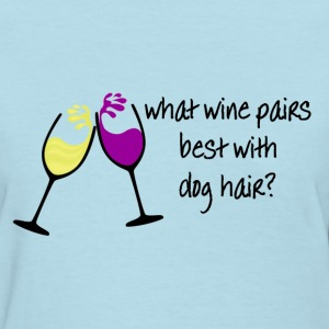 Wine and Dogs Women's T-Shirts - Women's T-Shirt