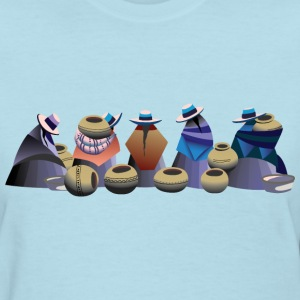 Market Day in Otavalo Bolivia Women's T-Shirts - Women's T-Shirt