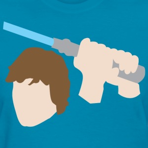 Luke Skywalker with Lightsaber  - Women's T-Shirt