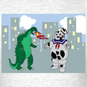 Godzilla VS Stay Puft Marshmallow Man  - Men's T-Shirt