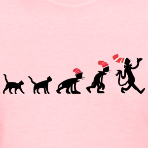 The Evolution of Cat in the Hat - Women's T-Shirt