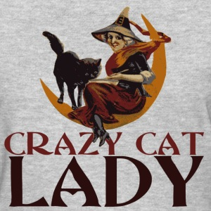 Crazy Cat Lady Witch for Halloween - Women's T-Shirt