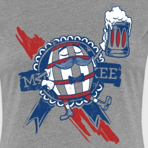 RETRO MILWAUKEE BARREL MAN Women's T-Shirts - Women's Premium T-Shirt