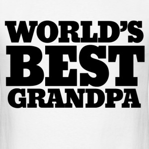 Worlds best Grandpa - Men's T-Shirt