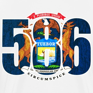 586 Michigan Area Code Flag T-Shirts - Men's Premium T-Shirt