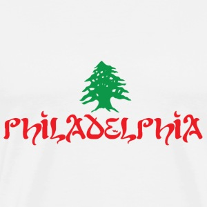 Philly Philadelphia Lebanese Flag T-Shirts - Men's Premium T-Shirt