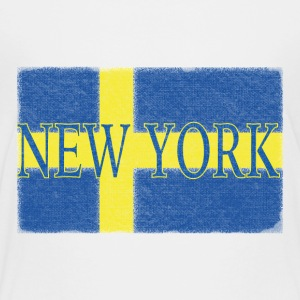 New York Swedish Flag Baby & Toddler Shirts - Toddler Premium T-Shirt