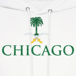 Chicago Saudi Arabia Flag Hoodies - Men's Hoodie