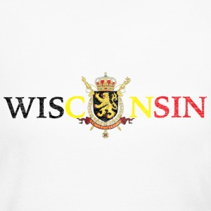 Wisconsin Belgium Flag Long Sleeve Shirts - Women's Long Sleeve Jersey T-Shirt