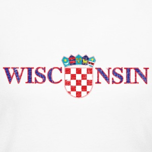 Wisconsin Croatian Croatia Flag Long Sleeve Shirts - Women's Long Sleeve Jersey T-Shirt