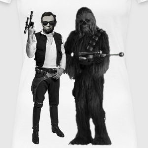 Han(est) Abe and Chewbaca - Women's Premium T-Shirt