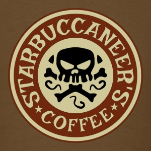 Starbuccaneers Coffee T-Shirts - Men's T-Shirt