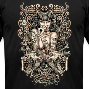 Tattooed evil Girl T-Shirts - Men's T-Shirt by American Apparel