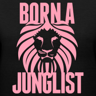 Design ~ Born A Junglist Ladies V Neck