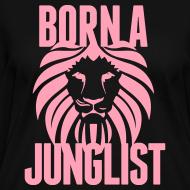 Design ~ Born A Junglist Ladies V Neck