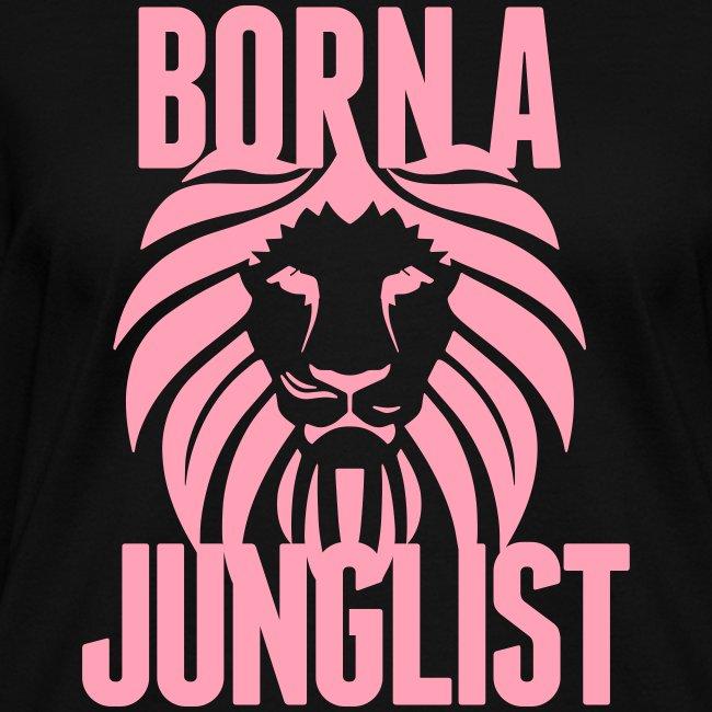 Born A Junglist Ladies V Neck
