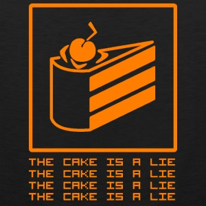 THE CAKE IS A LIE Tank Tops - Men's Premium Tank