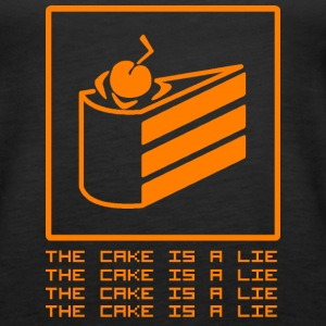 THE CAKE IS A LIE Tanks - Women's Premium Tank Top