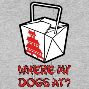 WHERE MY DOGS AT? Hoodies - Women's Hoodie