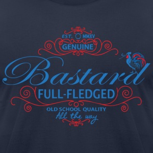 bastard label T-Shirts - Men's T-Shirt by American Apparel