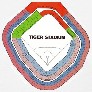 Old Tiger Stadium Seating Chart Women's T-Shirts - Women's T-Shirt