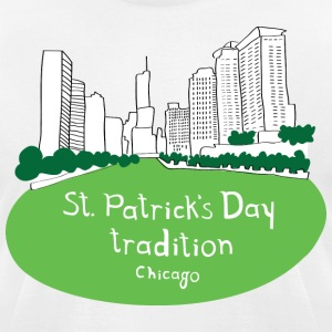St. Patrick's Day Green River Chicago T-Shirts - Men's T-Shirt by American Apparel