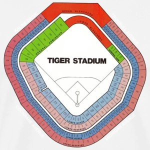 Old Tiger Stadium Seating Chart T-Shirts - Men's Premium T-Shirt